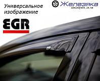 Ветровики Toyota Prado 120 (передние) 2003-2008 (дымчатые) (EGR), фото 1