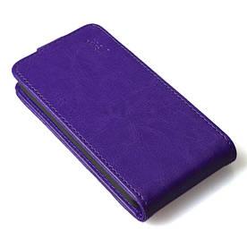 Чехол книжка для Lenovo A5000 вертикальный флип, Фиолетовый