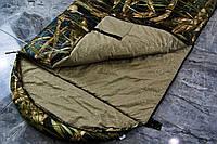 Широкий спальный мешок (камуфляжный спальник, до -2/+14