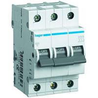 Автоматический выключатель In=13 А, 3п, С, 6 kA, 3м Hager (MC313A), фото 1