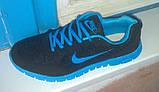 Кроссовки копия NIKE черно-синие, фото 6