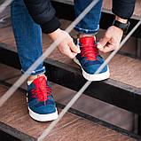 Мужские кроссовки South Mason NAVY/RED, кожаные мужские классические кроссовки, мужские кожаные кеды, фото 6