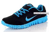 Кроссовки копия NIKE черно-синие, фото 2