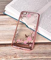 Чехол силиконовый TPU Glaze rose gold для Xiaomi Redmi 4A