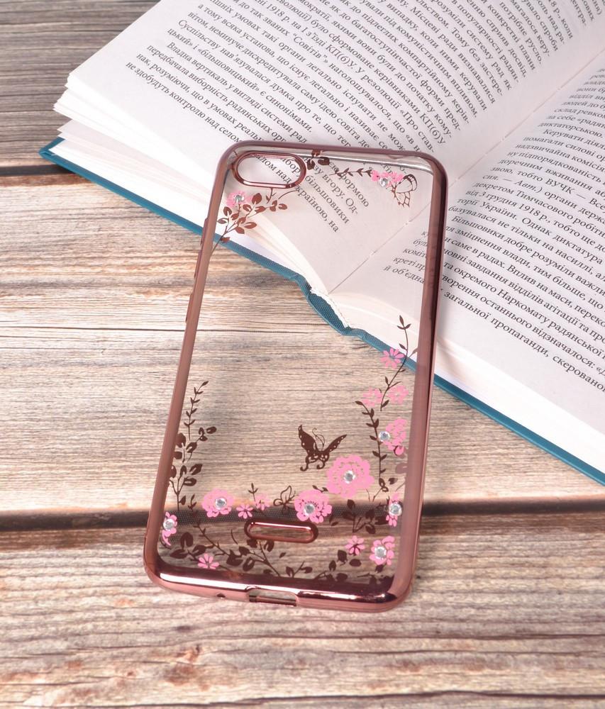 Чехол силиконовый TPU Glaze rose gold для Xiaomi Redmi 6A