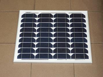 Сонячна панель монокристаллическая HQ-solar HQ025M-30W 12v (25,1 V 1,51 A)