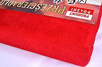 Простынь (наматрасник) VOLEN На резинке из махры Красная 140x200+24 см