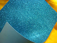 Фоаміран з гліттерам  (Китай) 1,8-2 мм коричневий блакитний