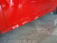 Боковые пороги, обвесы (под покраску) Ford Focus III (2011+)