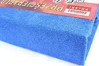 Простынь (наматрасник) VOLEN На резинке из махры Синяя 140x200+24 см