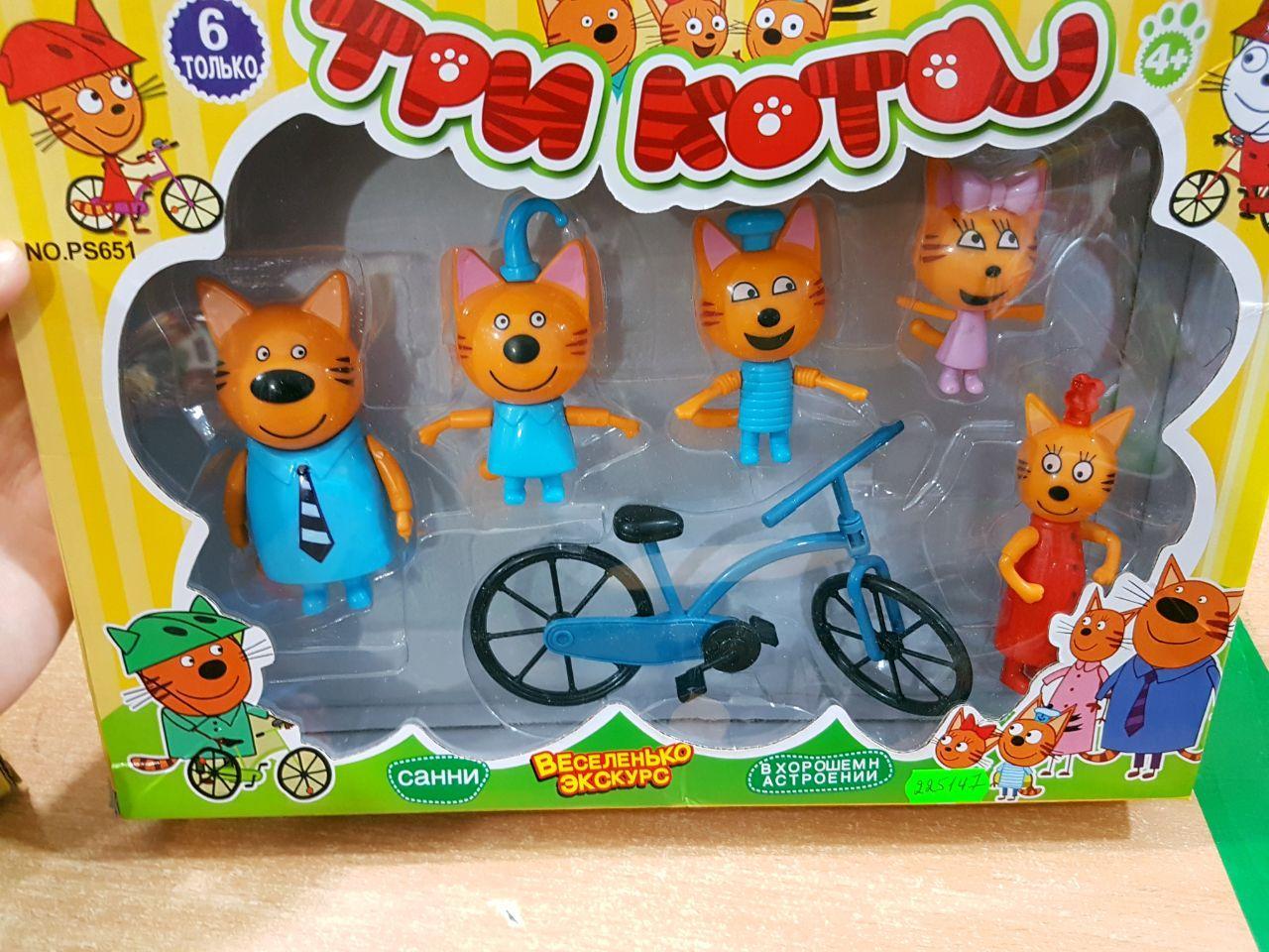 """Игровой набор """"Три кота"""" велосипедная прогулка PS651"""