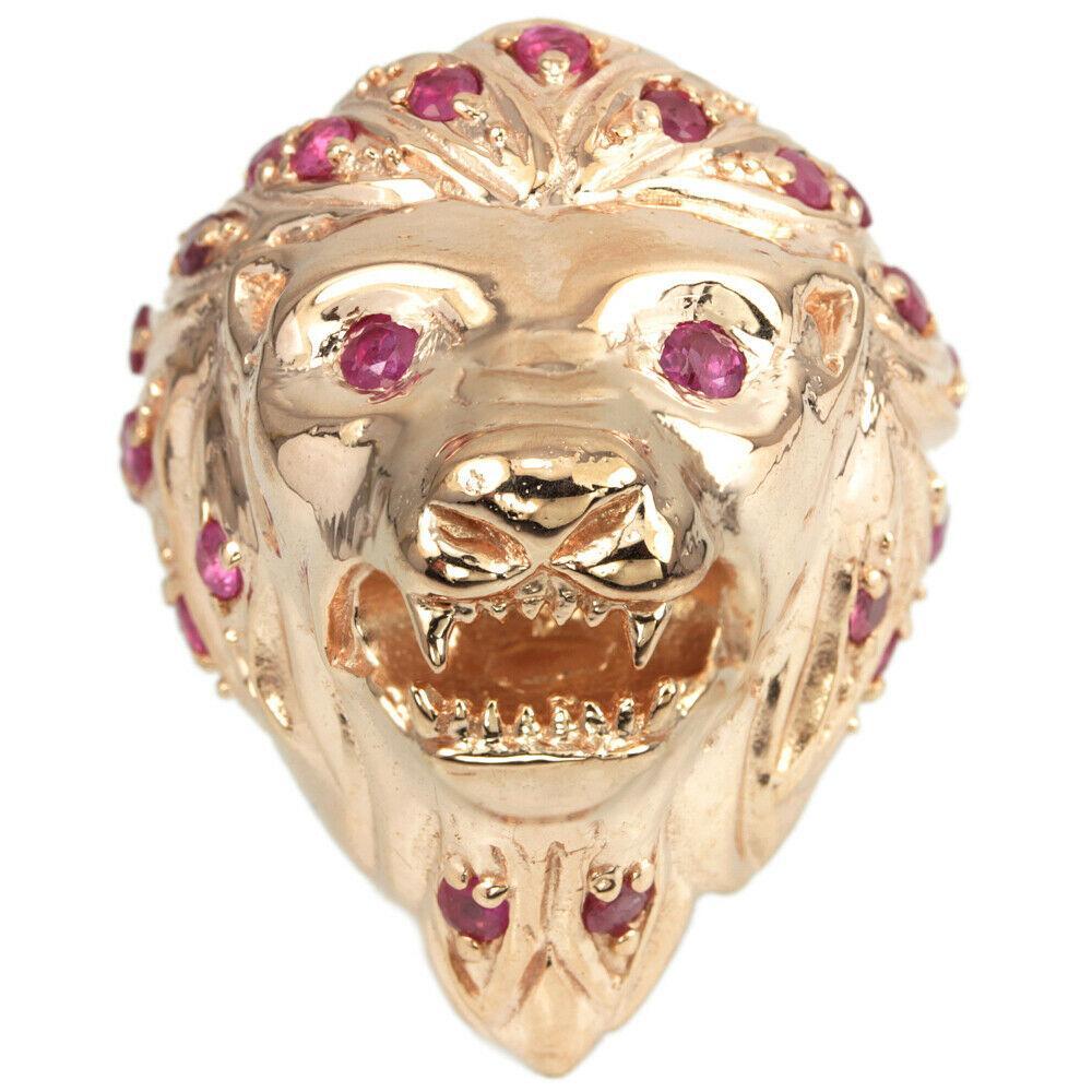 Серебряное Кольцо с Натуральными Рубинами