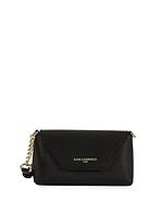 Женская оригинальная черная сумочка crossbody из сафьяновой кожи Karl Lagerfeld Paris