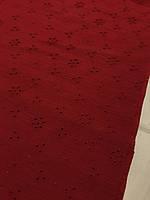 Батист вышивка ( бордовый )