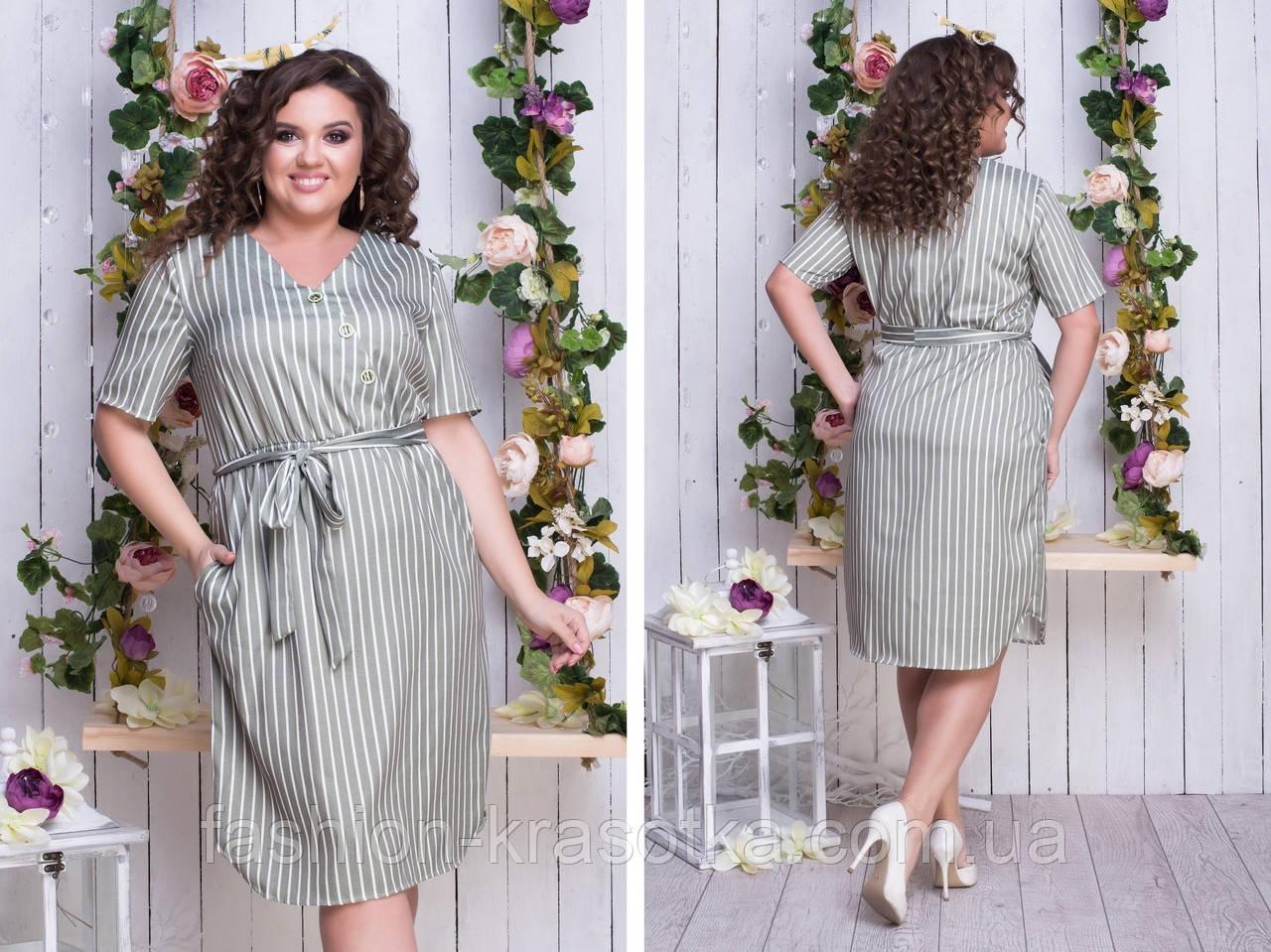 Модное женское льняное платье,размеры:48,50,52,54,56.