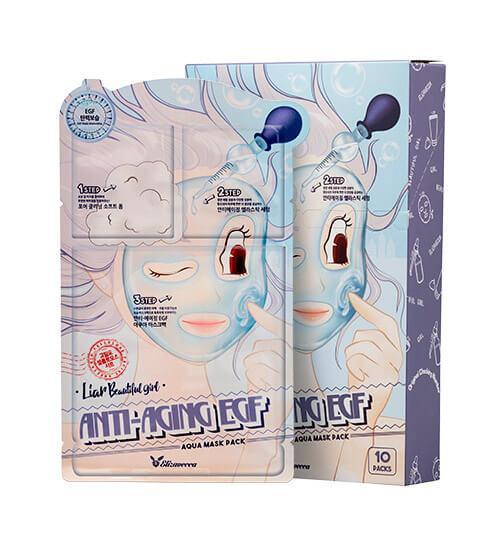 Трех ступенчатая увлажняющая и антивозрастная маска для лица с Elizavecca EGF Anti-Aging EGF Aqua Mask Pack