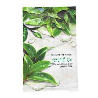 Тканевая маска для лица с экстрактом зелёного чая Nature Republic Real Nature Mask Sheet Green Tea