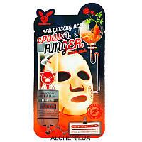 Тканевая маска с экстрактом красного женьшеня Elizavecca Red Ginseng Deep Power Ringer Mask Pack