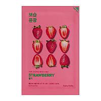 Тканевая маска для лица с экстрактом клубники Holika Holika Pure Essence Mask Sheet - Strawberry