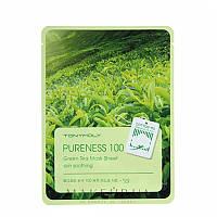 Тканевая маска для лица с экстрактом зелёного чая Tony Moly Pureness 100 Green Tea Mask Sheet