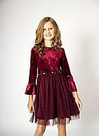 Святкова сукня оксамитова  з фатіном розмір 116-146