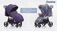 Всесезонная прогулочная коляска книжка El Camino X4  Violet, фиолетовый цвет + дождевик и чехол на ножки