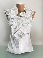 Блуза рубашка женская с воланом без рукава