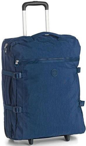 Небольшая практичная дорожная сумка на колесах 35 л. Roncato Rolling 7123/03 синяя