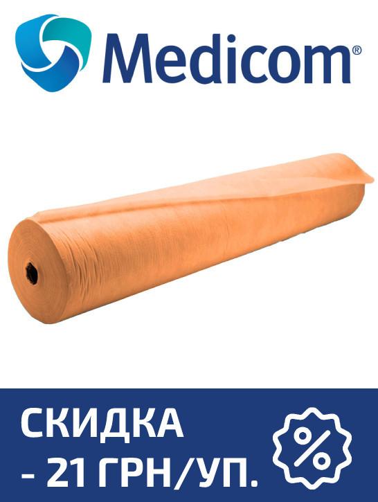 Одноразовая простынь в рулоне оранжевая MEDICOM Economy 20г/м.кв 80 х 100 5 УП