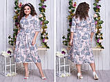 Легкое женское платье,ткань супер софт,размеры:50,52,54,56,58., фото 3