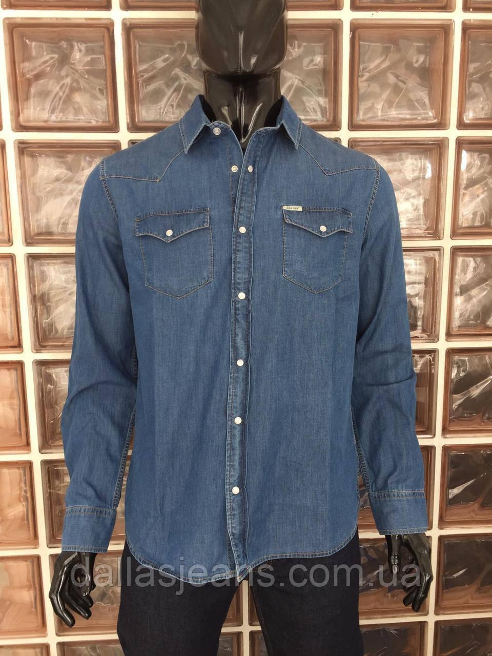2ee7c342414 Рубашка мужская джинсовая DALLAS JEANS Размеры M - DALLAS JEANS в Одессе