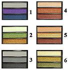 Тени для Век Meis MS-033 Трехцветные Атласные Компактные Тон 02 Цвета Салатово Белый, Оливковый, Коричневый, фото 5