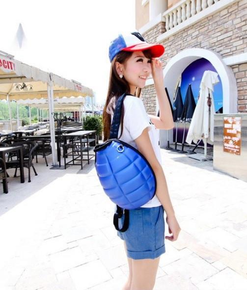 Современный рюкзак. Рюкзак в форме гранаты. Модный рюкзак. Унисекс рюкзак. Код: КРСК132