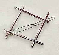 Заколка для волос фигура Ромб (цвет серебро), фото 1