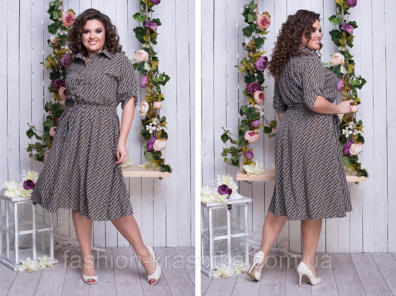 Женское платье легкое,ткань супер софт,размеры: 48,50,52,54.