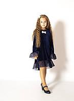 Нарядне плаття Моналіза з темно-синього оксамиту розмір 116-146