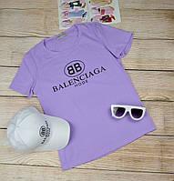 Сиреневая футболка женская Balenciaga (Баленсиага)