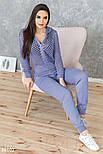 Легкий вязаный спортивный костюм светло-фиолетовый, фото 2