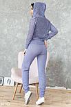 Легкий вязаный спортивный костюм светло-фиолетовый, фото 4