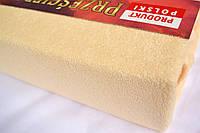 Простынь (наматрасник) VOLEN На резинке из махры Бежевая 140x200+24 см