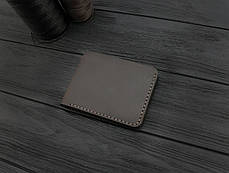 Мужской кожаный бумажник ручной работы VOILE mw10-brn, фото 3