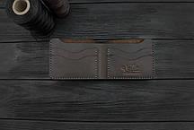 Мужской кожаный бумажник ручной работы VOILE mw10-brn, фото 2