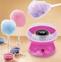 Апарат для солодкої вати Cotton Candy Maker + палички в подарунок Рожевий