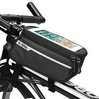 """Велосипедная сумка на раму для смартфона до 6.4""""дюймов B-SOUL черная"""