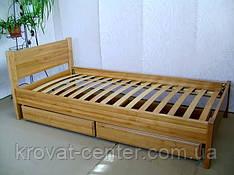 """Односпальне ліжко з дерева з ящиками від виробника """"Економ"""""""