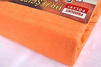 Простынь (наматрасник) VOLEN На резинке из махры Оранжевая 140x200+24 см