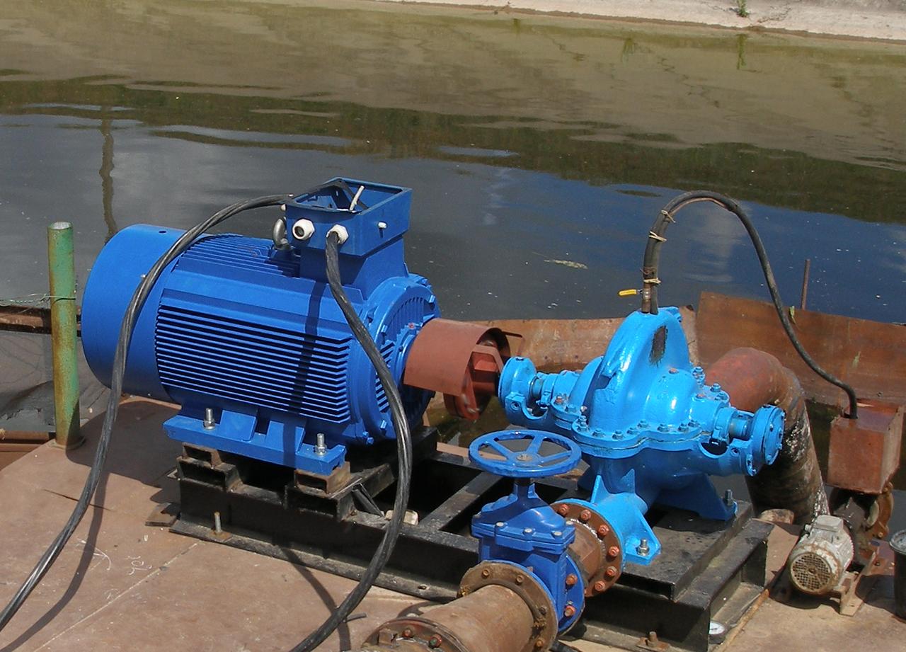 Насос центробежный  типа 1Д 630-90 с эл. двиг. 250 кВт/1500 об.мин.