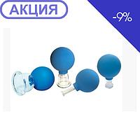 Банки сухие вакуумные полимерно-стеклянные 4 в инд.упаковке (АльпинаПласт)