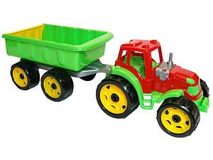 """Игрушка """"Трактор с прицепом 54 × 17.5 × 16см Технок"""", арт. 3442"""