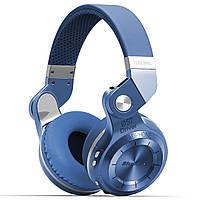 ☀Bluetooth гарнитура Bluedio T2 Plus Blue трансформер беспроводная с микрофоном разъем microSD FM Радио